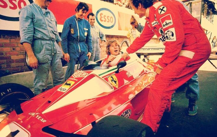 I'm stealing your car!!!... - James Hunt & Niki Lauda, Monaco 1976