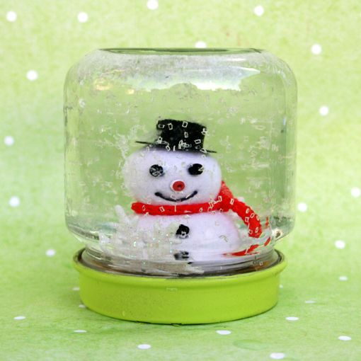 How to Make Baby Jar Snow Globes by Sandy Toes & Popsicles