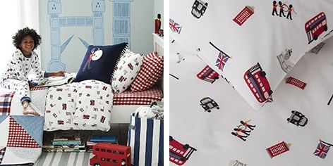 Buy London Print Bed Linen - from The White Company