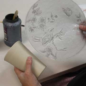how to make ceramic tissue transfers
