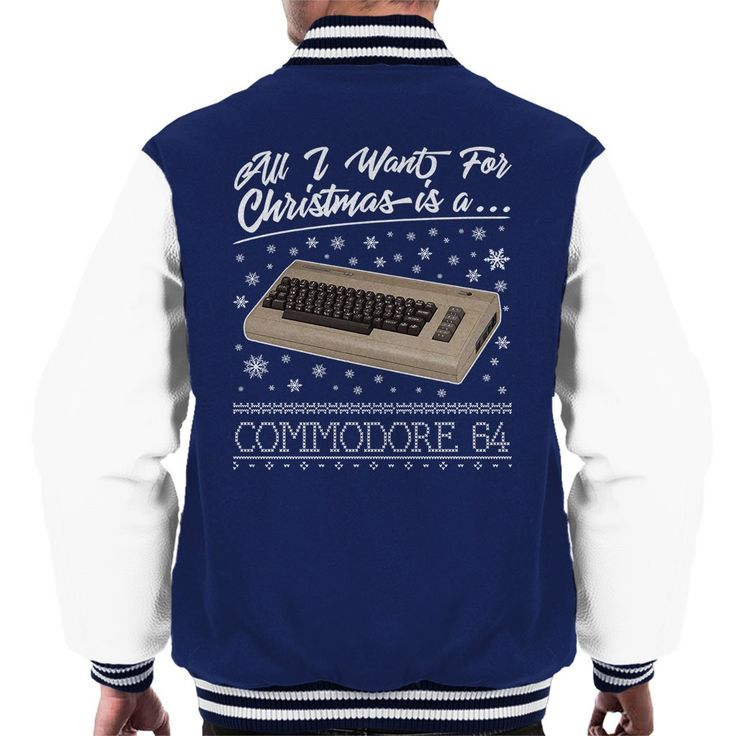 Now available on our store: All I Want For Ch... Check it out here! http://www.coto7.com/products/all-i-want-for-christmas-is-a-commodore-64-mens-varsity-jacket?utm_campaign=social_autopilot&utm_source=pin&utm_medium=pin