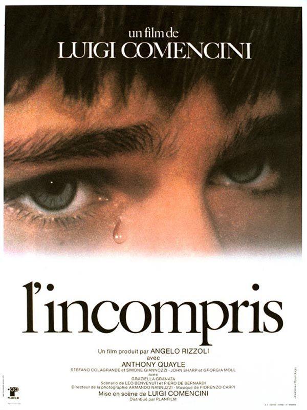 L'Incompris est un film de Luigi Comencini avec Anthony Quayle, Stefano Cologrande. Synopsis : Le consul du Royaume-Uni à Florence, Sir Duncombe, vient de perdre son épouse. Il demande à Andrea, son fils aîné, de ne rien dire à son jeune frère M