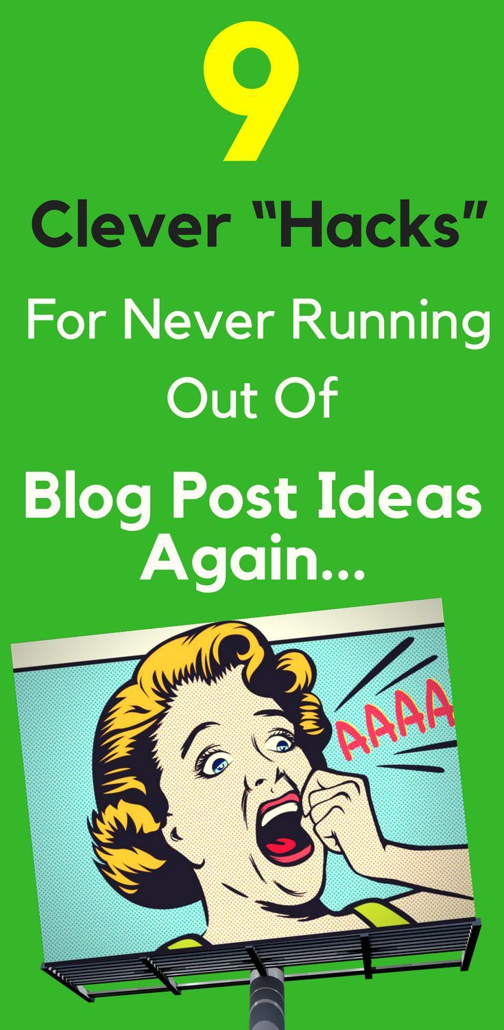 9 Clever Hacks For Never Running Out Of Blog Post Ideas Again   Ever sit at the computer, fingers on the keyboard, ready to write the next #blog #post, but have no idea what to write about?  It happens to the best of us. That blank screen can feel daunting.  But today I have good news. If you've struggled to come up with blog post #topics and #ideas, then those days could be coming to a swift end… Read more…
