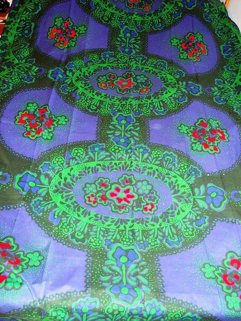 Vintage fabric Juhlat design Marjatta Metsovaara