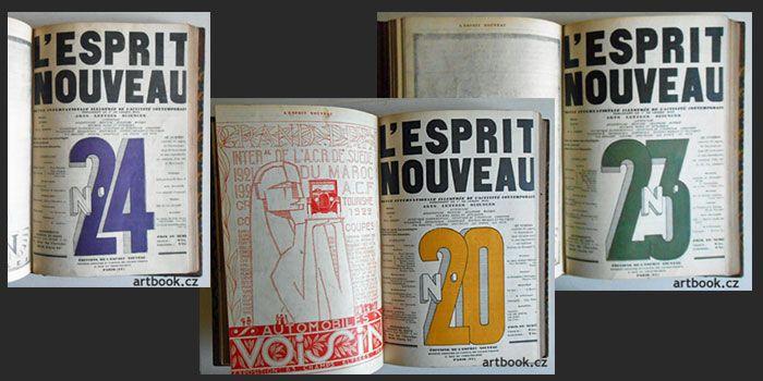 Antikvariát PRAŽSKÝ ALMANACH www.artbook.cz - L'Esprit Nouveau. 1923 - 1925.