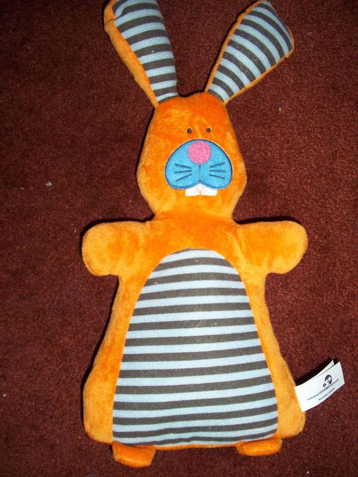Orange Rabbit National Entertainment Network Plush Stuffed Animal