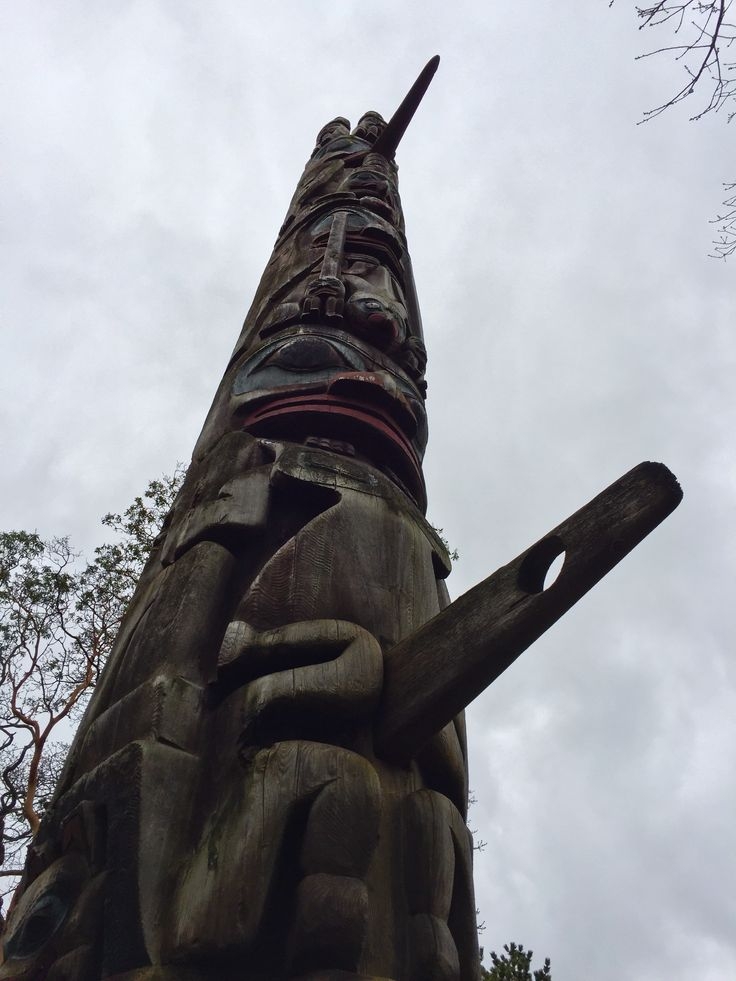 First Nations totem outside the Royal BC Museum