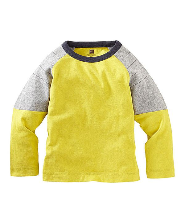 Love this Yellow Cypress Color Block Moto Tee - Infant, Toddler & Boys by Tea on #zulily! #zulilyfinds