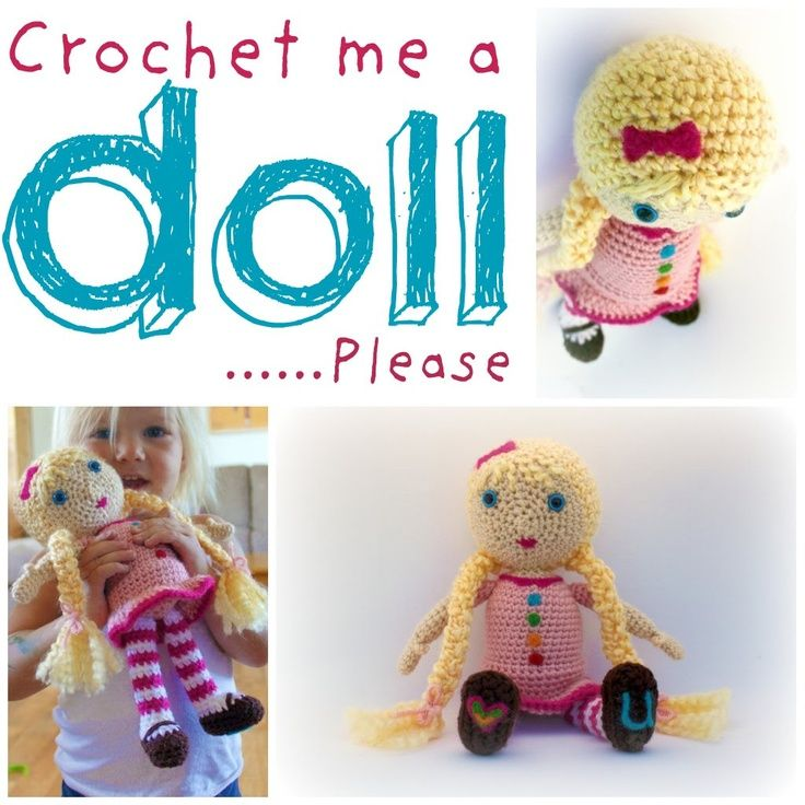 Simple Amigurumi Doll : EASY: 12 Doll Crochet Pattern. AMIGURUMI Pinterest