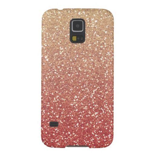 Glittery Gold Melon Samsung Galaxy S5 case