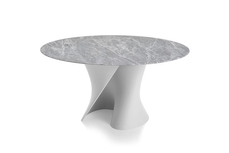 Современные круглые столы, овальные столы. S Стол с мраморными досками.