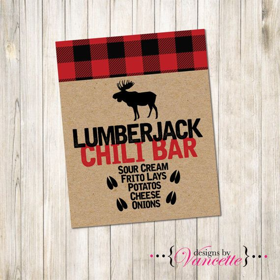 Lumberjack Food Bar Sign makes a perfect addition to your party. Have the items your are serving listed on this Lumberjack Food Sign. Visit our website for helpful tips and information on printing and putting together signs, as well as other fabulous additions to your party; games, decor, etc. Check out our blog for Lumberjack Parties @ www.designsbyvancette.com ★★ PLEASE READ ALL INFORMATION BELOW BEFORE CHECK OUT★★  ▬▬▬▬▬▬▬▬▬▬▬▬▬▬▬▬▬▬▬▬▬▬▬▬▬▬▬▬▬▬ -------------------- ►►► Package Details…