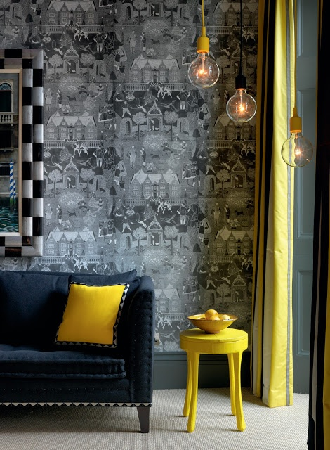 More fab colour contrasts with acid yellow.