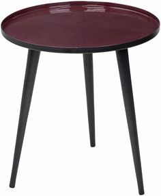 Jelva Table -available in Two sizes (small pictured) and in three colours: Port (pictured), Grey, and Dove