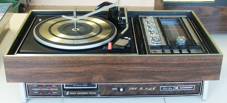 Garrard Model LKT290 stereo system with turntable, radio, 8-track (1970s)