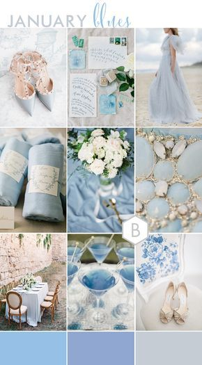 JANUARY BLUES | Serenity Blue Pantone Colour of the Year 2016 Wedding Inspiration | B.Loved | Luxe & Lovely