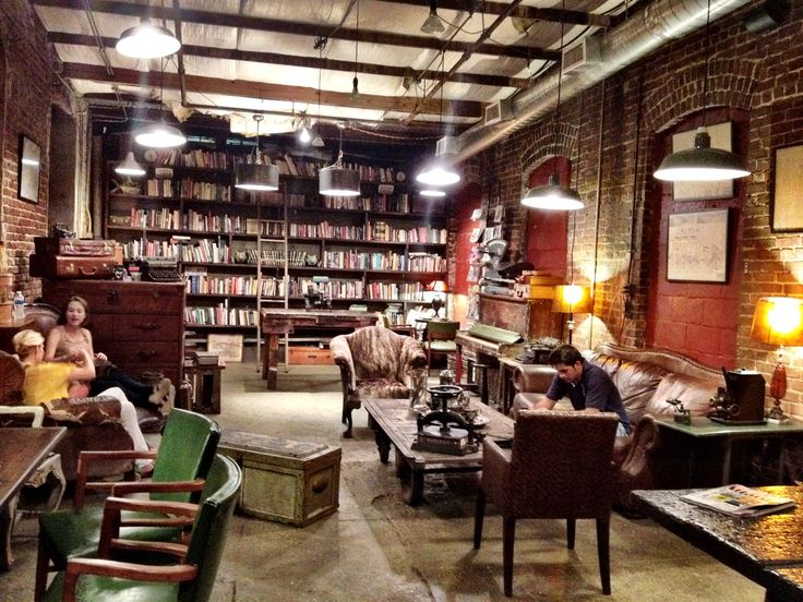 library wall and vintage decor! | coffee shops | Pinterest ...