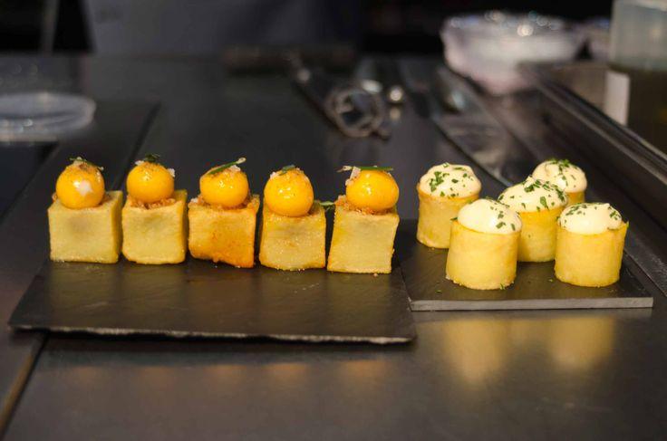 Realización del Chef Sergi Arola en uno de nuestros platos de pizarra de 15X15, que podreis encontrar en: www.platosypizarras.com Venta de plato online #pizarras #slate #platos #vajilla #decoracion #gastronomia