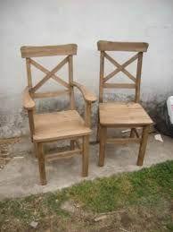 Resultado de imagen para sillas de comedor rusticas en madera