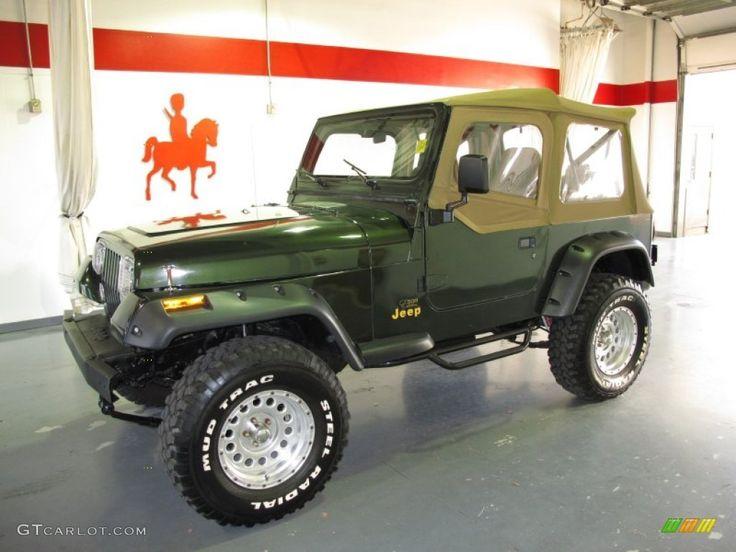 1995 jeep sahara | 1995 Moss Green Pearl Jeep Wrangler Rio Grande 4x4 #59168327 Photo #13 ...