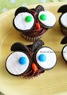 Sharing some Halloween recipes on my blog today -I think these Owl Cupcakes are so cute!