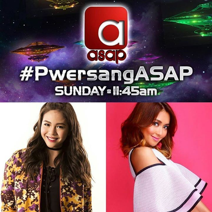 Forces of beauty like no other! Kathryn Bernardo & Janella Salvador take the ASAP dancefloor! Sunday! #PwersangASAP