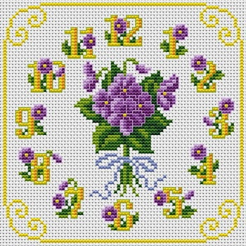 Cross Stitchers Club Violet time
