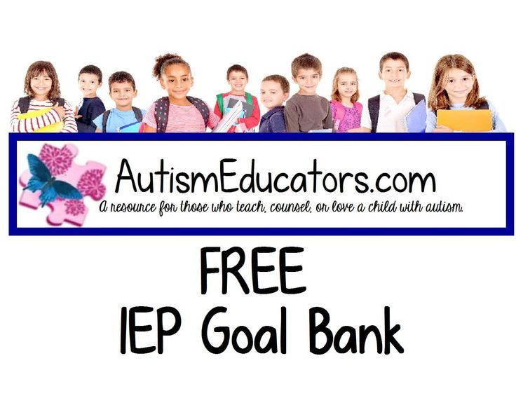 "FREE IEP Goal writing assistance! Submit an area of need and what the student will strive to achieve in the COMMENTS section below.  We will post a goal with objectives and align it with activities for mastery IN THE COMMENTS SECTION BELOW! Pin this to your board for easy access. This is just a sneak peek of our ""Pay it Forward, We Give Back"" promotion. Watch for exciting news and enhancements on http://www.AutismEducators.com coming soon!"