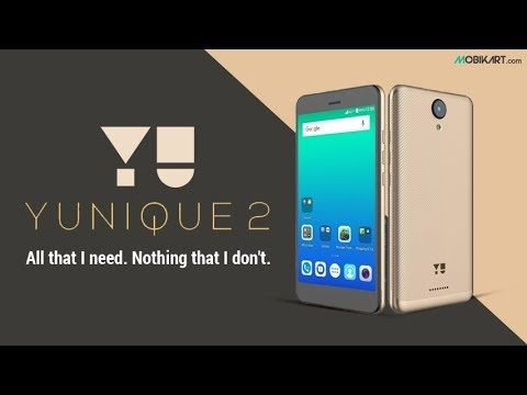 Yu Yunique 2 #YuYunique2 has 2 GB RAM and 2500 mAh battery.It is a Budget Oriented smartphone with good rear camera. Watch the video below.  Get the lowest price on Yu Yunique 2 here: https://www.mobikart.com/mobile/yu-yunique-2