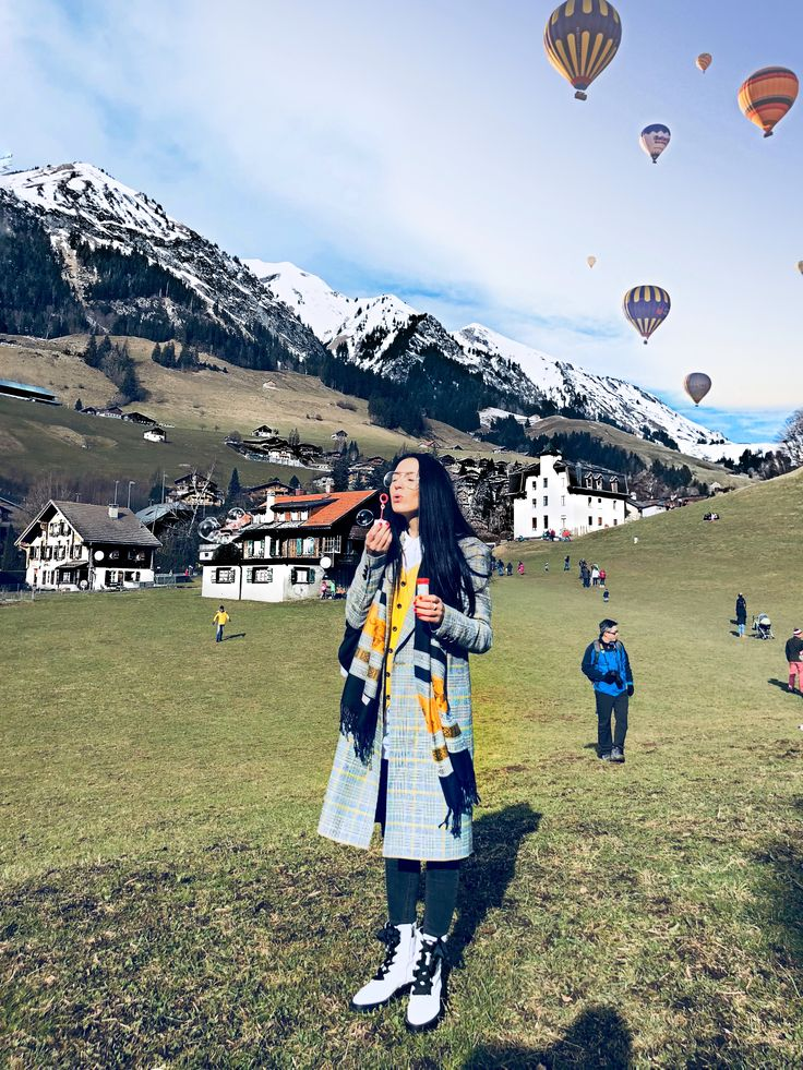 International Hot Air Ballon Festival of Chateau-d'Oex.  Switzerland