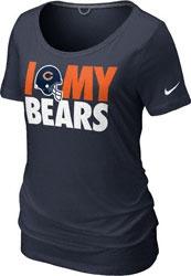 I LOVE MY TEAM!!!Chicago Bears Women's Navy Nike Team Dedication Tri-Blend T-Shirt