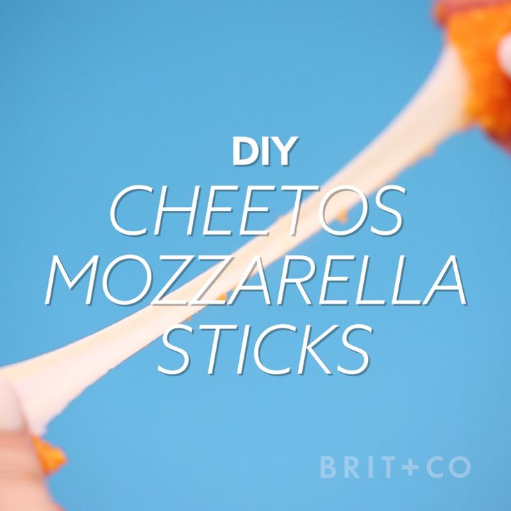 Watch this creative appetizer video DIY recipe to learn how to make Cheetos Mozzarella Sticks.