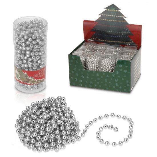 Zilveren kerst slinger 75 meter  Zilveren kralenslinger 75 meter. Feestlijke kralenslinger ideaal voor bijvoorbeeld in de kerstboom. Deze kralenslinger is onderdeel van het thema Classic Silver.  EUR 2.60  Meer informatie