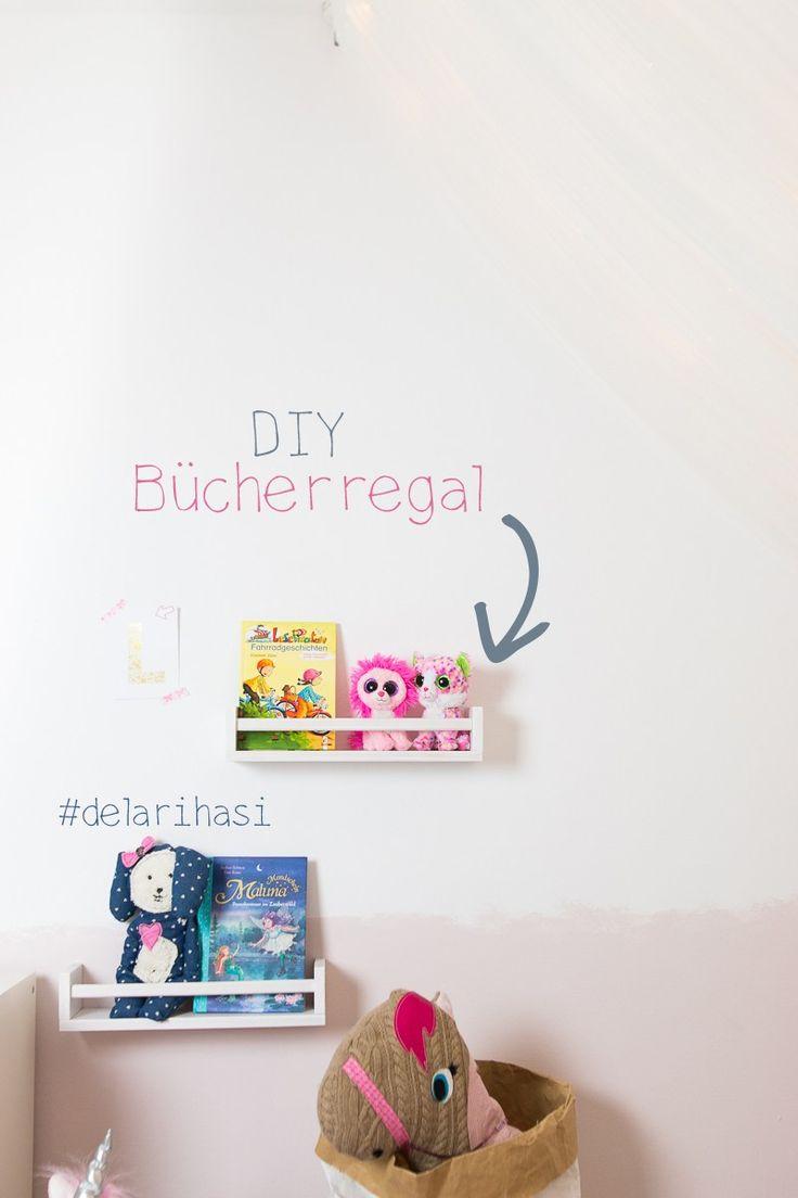 Geniale Kinderzimmer Idee – Mädchen – DIY – Bücherregal – Buchaufbewahrung – I…