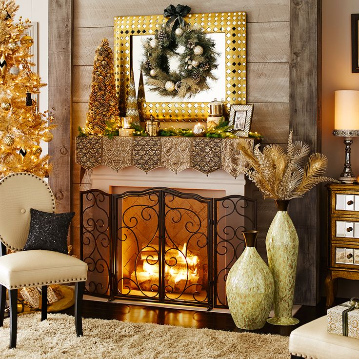 41 Best Fireplace Mantel Scarves And Screens Images On
