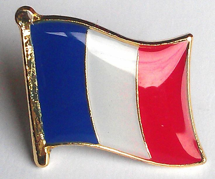 France National Flag Metal Lapel Pin Badge