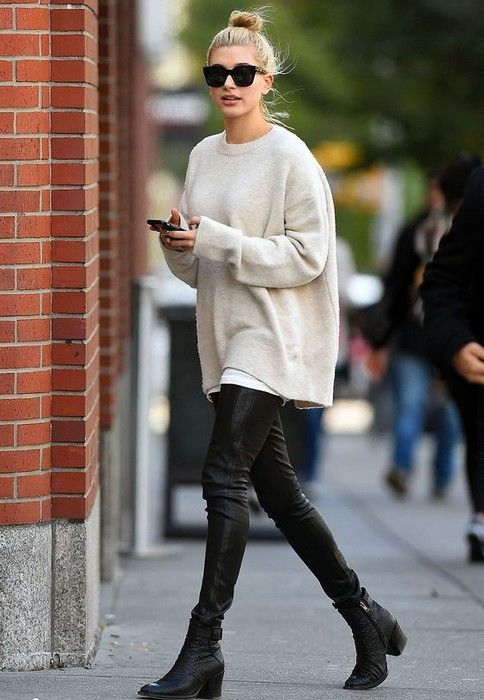 21 Cute Oversized Sweater Outfit Ideas Glamsugar.com This Oversized Sweater