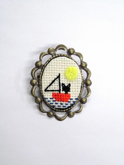 Cat set sail by Pin Pals