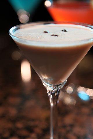 Double Espresso Martini with Van Gogh Double Espresso Vodka and Bailey's Irish Cream.
