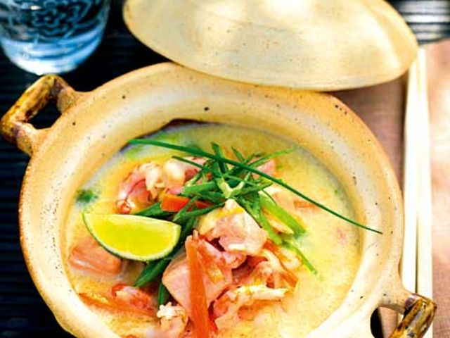 Thailändsk räk- och fiskgryta (kock Ulrika Davidsson)