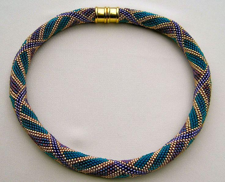 Bead Crochet Pattern Wide Reverse Spiral by WearableArtEmporium, $8.00