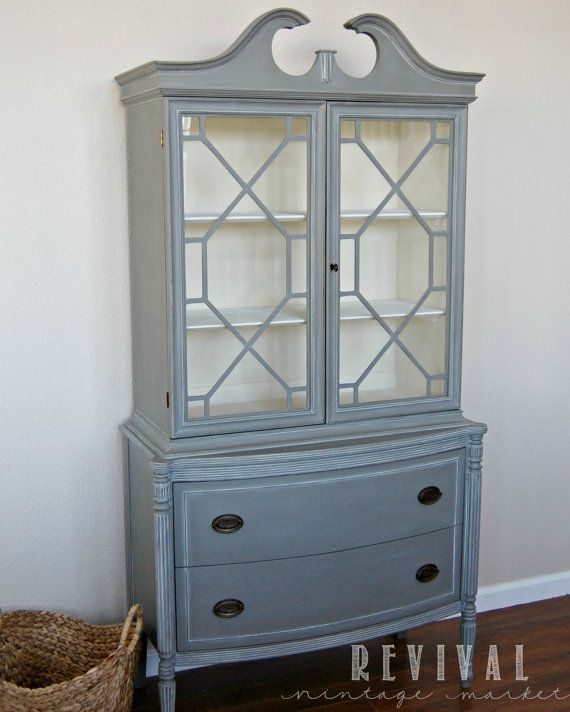 Duncan Phyfe China Cabinet by RevivalVintageMarket on Etsy, $900.00                                                                                                                                                                                 More
