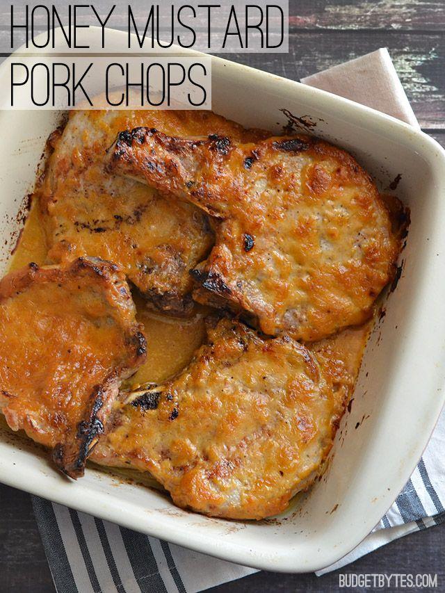 Honey Mustard Pork Chops - BudgetBytes.com