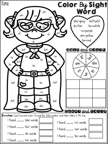 color words coloring pages - photo#16