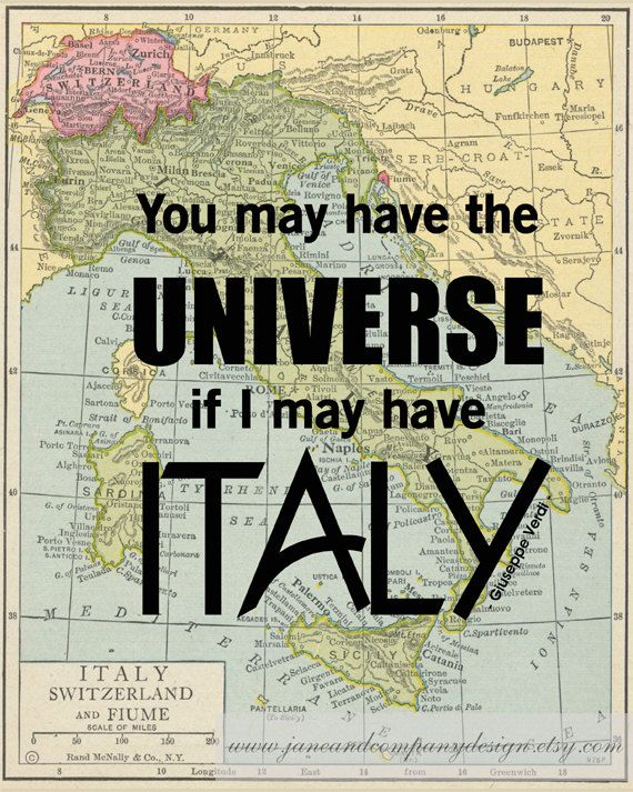 """""""You may have the universe if I may have Italy"""" - Italian Romantic Composer Giuseppe Verdi, in the prelude to his opera """"Attila"""" which was first performed at La Fenice in Venice on March 17, 1846. www.OneDayInItaly.com"""