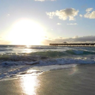Juno Beach Pier, Juno Beach, FL where we were everyday !!!;)