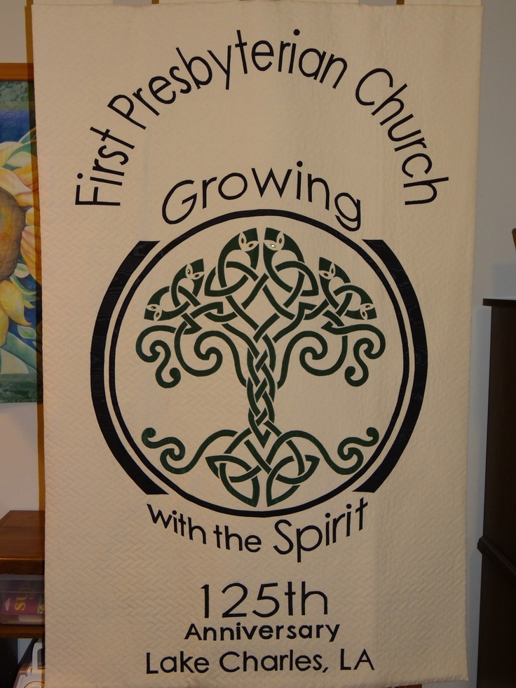 I made this banner for the 125th anniversary of First Presbyterian Church, Lake Charles, Louisiana.