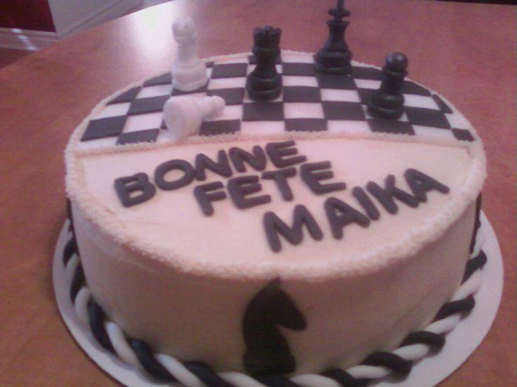 gâteau jeu d'échec