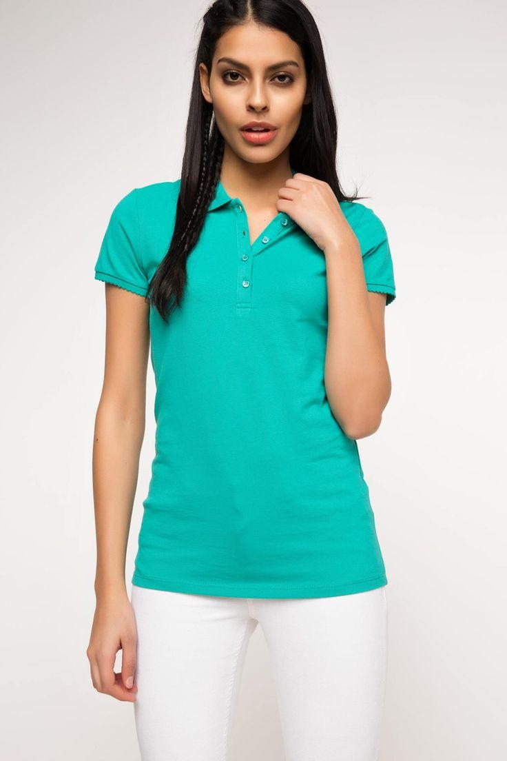 DeFacto Marka Basic Polo T-shirt || Sade giyinmeyi sevenlerin tarzını yansıtan, giyindiğinizde rahat edebileceğiniz, pantolon ve eteklerle kolayca kombinlenebilen basic DeFacto polo t-shirt                        http://www.1001stil.com/urun/3168626/basic-polo-t-shirt.html?utm_campaign=DeFacto&utm_source=pinterest