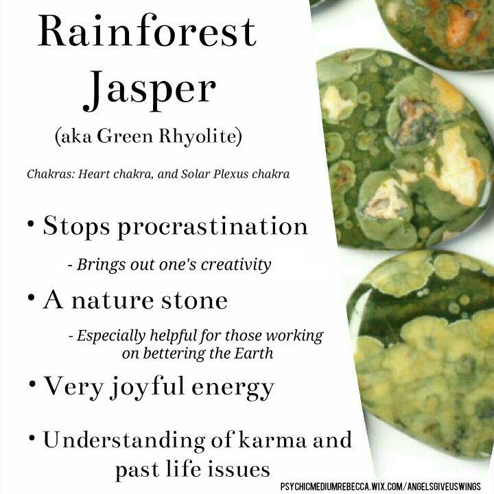 Rainforest Jasper crystal meaning (aka Green Rhyolite)